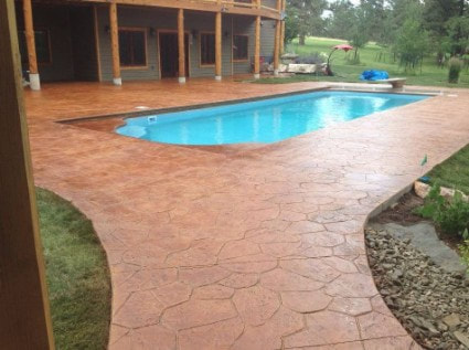 stamped concrete pool deck nampa